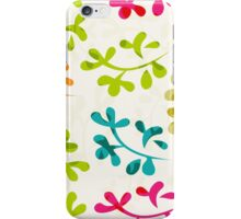 Floral pattern with cute leaves iPhone Case/Skin