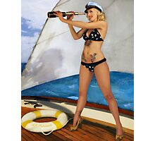 A Splendid View PinUp Photographic Print