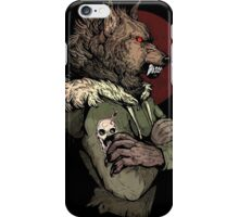 Wolf Rising Brown iPhone Case/Skin
