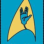 Star Trek - Vulcan Salute Badge by PPWGD