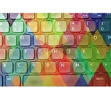 Keyboard + Triangles Photographic Print