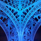 Eiffel Tower Leg In Blue by DavePlatt