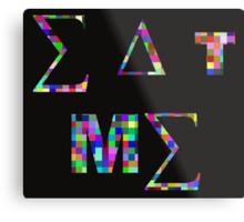 Eat Me, Color Squares Metal Print