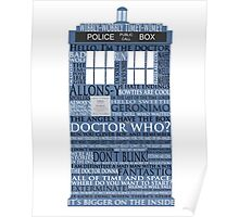 Dr. Who Whovian fans Poster