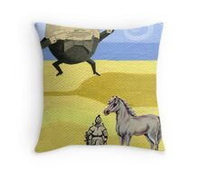 One Of The King's Men & One King's Horse Throw Pillow