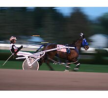A day at the harness races in Saratoga, New York. Photographic Print