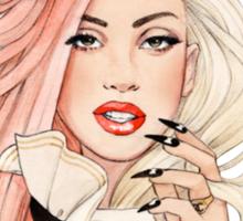 Lady Gaga (drawing) Sticker