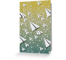 Paper Airplane 109 Greeting Card