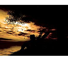 A fairy at sunset  Photographic Print