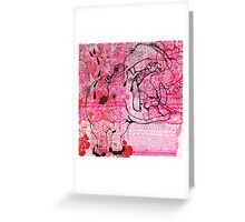 Pink Hippo Cake Greeting Card