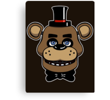 Freddy Fazbear Face Canvas Print