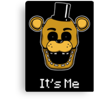 Golden Freddy - It's Me Canvas Print