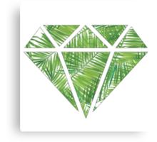 Palm Tree Diamond Canvas Print