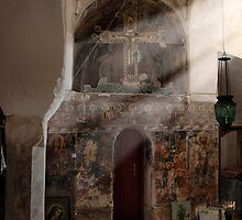 Greek Orthodox church interior by duncananderson