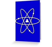 Atom White Greeting Card
