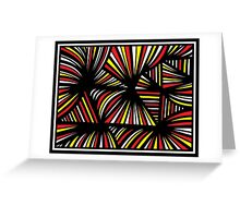 Pouliotte Abstract Expression Yellow Red Blue Greeting Card