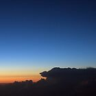 Sunset from 35,000 Feet by Mark Wuttke