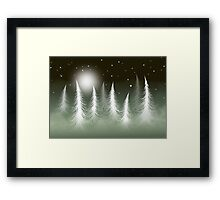 * lost snowflake * Framed Print