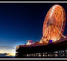 Blackpool big wheel at Sunset by Shaun Whiteman