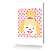 Animal Crossing New Leaf - Animal Crossing Isabelle - Cute Animal Character Greeting Card
