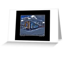 Moonlight Train Poster Greeting Card
