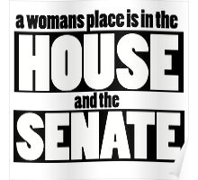 A womans place is in the house and senate Poster