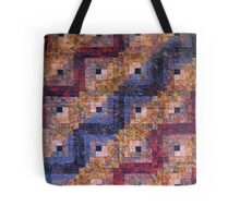 """Autumn Leaves"" Log Cabin Quilt Tote Bag"
