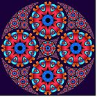 Colourful circles mandala by walstraasart