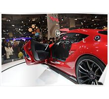 Toyota FT1 Concept Side and Interior view Poster