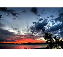 Smiley Face Conjunction at Sunset Photographic Print