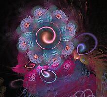 'Lightflower Rose 2, in Blue' by Scott Bricker