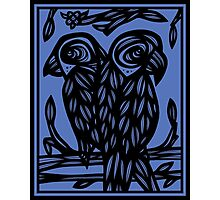 Centeno Parrot Blue Black Photographic Print