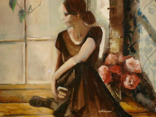 Dancer in window by Cathy Amendola