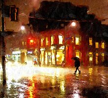 Rainy Night in Detroit by John Farr