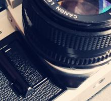 Vintage Camera with Lens Sticker