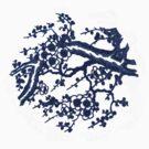 cherry blossom blue by picketty