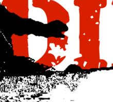 skeleboarder board or die Sticker