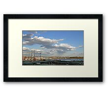 The New IWay Bridge in Providence, Rhode Island Framed Print