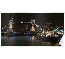 Tower Bridge London HDR Poster