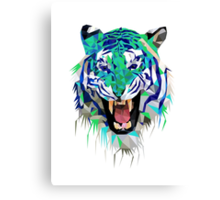 Tiger Force Teeth Face Canvas Print