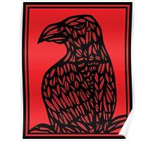 Strehl Eagle Hawk Red Black Poster