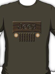 Wooden Jeep Willys ~ Black [Update] T-Shirt