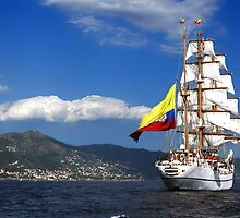 Tall ships by Monica Di Carlo