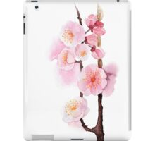watercolor flowers of apricot iPad Case/Skin