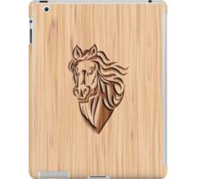 Horse - Wood Carved iPad Case/Skin