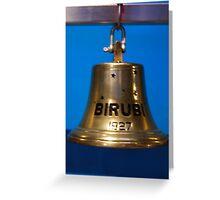 Ships Bell - Birubi 1927 Greeting Card
