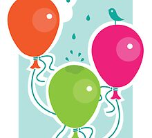 Balloons - greeting card by oksancia