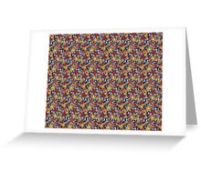 Pattern Flower [Red] Greeting Card
