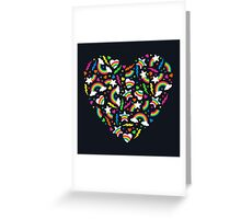 80s Party - Retro Rainbow Brights Greeting Card