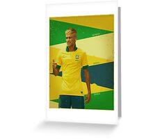 Neymar Greeting Card